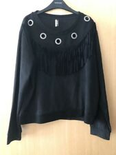 Brand New Without Tags Womems Topshop Faux Suede Tassel Top Size UK 12