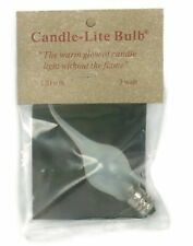 Candle-like Bulb... Save $ on Discount Box of 12. Softer Glow, 3 Watt Large S...
