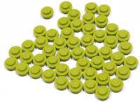 LEGO - 50 x Rundplatte 1x1  lime - grün / grasgrün / hellgrün / 4073 NEUWARE