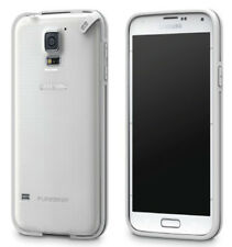 PUREGEAR SLIM SHELL CLEAR WHITE CASE COVER FOR SAMSUNG GALAXY S5 SM-G900