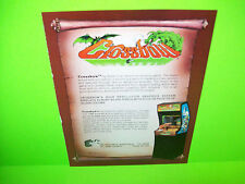 Exidy CrossBow Original 1983 Classic Video Arcade Game Rifle Gun Sales Flyer