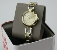 NEW AUTHENTIC FOSSIL KERRIGAN GOLD CRYSTALS WOMEN'S BQ8008 WATCH