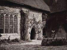 1926 Vintage UK England IGHTHAM MOTE Medieval Manor Gardens Photo By E.O. HOPPE
