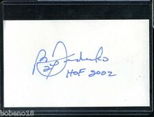 Bernie Federko HOF signed autographed Auto 3x5 Index card Blues