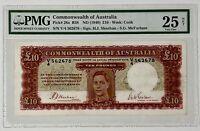 AUSTRALIA 10 POUNDS P28a 1940 SHEEHAN McFARLANE PMG25 VERY FINE / VERY RARE