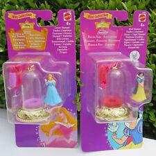 DISNEY MINI POLLY POCKET Sleeping Beauty & Snow White Bell with ribbon 1998