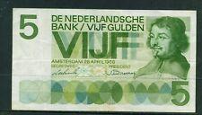 NETHERLANDS - 1966 5 Gulden Circulated Banknote