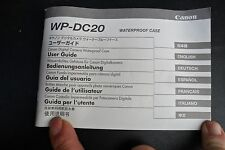 CANON WP-DC20 Waterproof Camera Case MANUAL / GUIDE BOOKLET