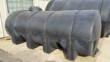 """1635 gallon black elliptical poly tank, 142""""x 71""""x 58 Container, water, chemical"""