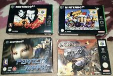 Nintendo 64 console(N64) games bundle inc bomber man, 007, boxed with manuels