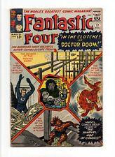 Fantastic Four #17 VINTAGE Marvel Comic KEY Doctor Doom Cover/App Silver 12c