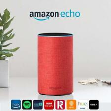 Amazon Echo (2nd Generation) With Alexa Smart Assistant + SMART BULB -Red