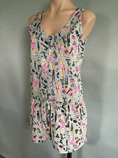 BNWT Ladies/Teenage Girl Sz 8/10 Cute Barbie Print Stretch Summer Onesie Pyjamas