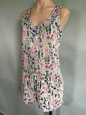 BNWT Ladies/Teenage Girls Sz 16/18 Barbie Print Stretch Summer Onesie Pyjamas