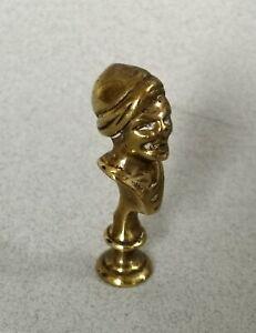 Antique Georgian Brass Mr Punch Pipe Tamper c1810