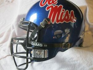 Riddell Ole Miss Rebels Full Size Heavy Duty College Football Game Used  Helmet