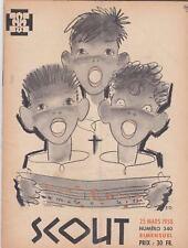 REVUE BIMENSUELLE SCOUT N° 340  25 MARS 1958 SCOUT SCOUTISME