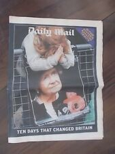 VINTAGE NEWSPAPER DAILY MAIL MARCH 2002 QUEEN MUM DIES 32 PAGE SOUVENIR TRIBUTE