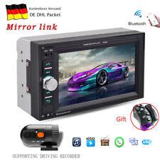 "Doppel 2Din Touch Screen 6.2"" Autoradio Bluetooth Car Stereo MP5 Player + Kamera"
