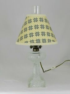 Reproduction of the Antique Princess Feather Glass Lamp with Shade