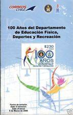 Chile 2010 Brochure 100 Años Departamento Educacion Fisica Deportes y Recreacion