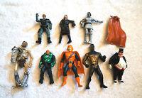 x8 Vintage & Modern ACTION FIGURE LOT Collection Batman Marvel Spiderman Batman