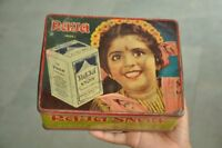 Vintage Raja Snow Brand Soap Ad Litho Tin Box