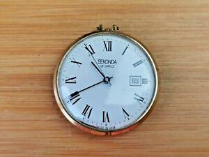Nice Vintage Sekonda (Raketa Cal 2614.H) Date Fob Watch, Needs Service / Repair
