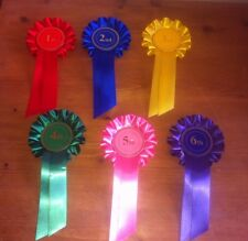 Rosettes 6 dog, horse, animal show 1st to 6th