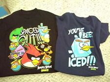 Angry Birds official licensed Spaced Out  Navy Black T Shirts kids size