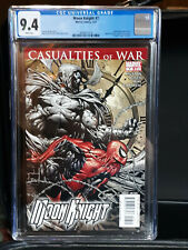 MOON KNIGHT #7 CGC 9.4 NM WHITE PAGES - SPIDER-MAN!!