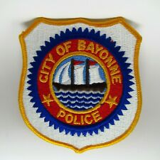 Vintage Patch - Police Department - City Of Bayonne - Embroidered Ship in Shield