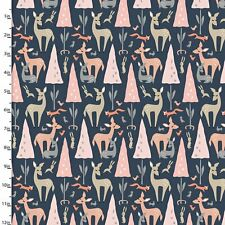 Dwelling Collection Navy- 100% Cotton Quilting Fabric