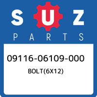 09116-06109-000 Suzuki Bolt(6x12) 0911606109000, New Genuine OEM Part