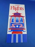 PSA FLIGHTS PACIFIC SOUTHWEST AIRLINES SYSTEM TIMETABLE OCTOBER 1986 CATCH SMILE