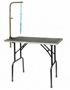 Go Pet Club Pet Dog Grooming Table with Arm 36-Inch