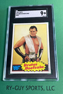 1985 TOPPS #10 BRUTUS BEEFCAKE WWF SGC 9 MINT