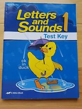 A Beka Book Letters and Sounds 1 Phonics Teacher Test Key - First 1st Grade