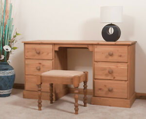 SOLID PINE DRESSING TABLE | HANDMADE | DOVETAILED | WAXED