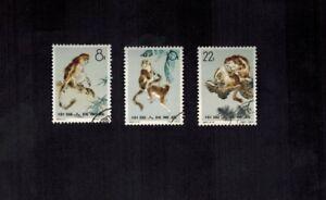 PR China 1963 S60 Sc 713-715 Golden Haired Monkey Full Set CTO OG VF