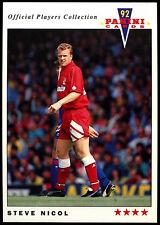 Steve Nicol Liverpool #98 Panini Football 1992 Card (C358)