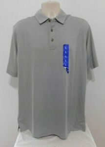 Mens  Pebble Beach Polo Shirt Short Sleeve Size LARGE Athletic Gray NEW
