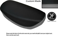 GREY AND BLACK VINYL CUSTOM FITS HONDA DAX CT ST 70 DUAL SEAT COVER ONLY
