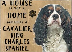 A House is Not Home Without a King Charles Spaniel Steel Sign 200mm x 150mm (og)