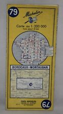 France - Michelin 1:200,000 Map - Bordeaux, Montauban - Sheet 79 - 1970