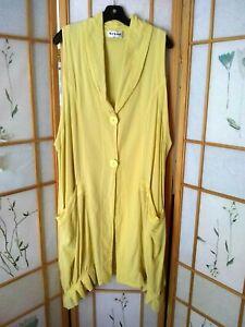"Upscale Euro Line KEKOO PARACHUTE Vest Layering  QUIRKY LAGENLOOK 14-18 52""B"