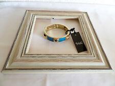 Bracelet Fantaisie Rigide Ouvrant Or et Bleu Nali Neuf