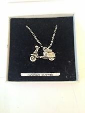 Scooter L PP-T19  Emblem on Silver Platinum Plated Necklace 18""
