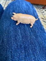 Vintage British toy - Metal Pig -  J. Hill Co. Cast - barnyard