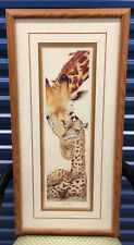 """Framed LE Print By D Swartzendruber - """"Into Africa"""" Giraffe - Signed & Numbered"""